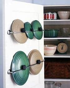 Un truco para mantener ordendas las tapas de las ollas decoracion-cocinas Blog Decoracion