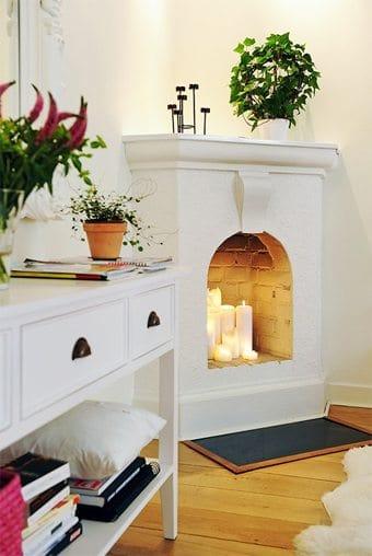 Velas para dar vida a una vieja chimenea decoracion-cocinas Blog Decoracion