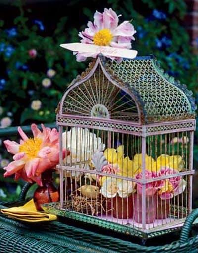 Elementos decorativos: jaulas y flores decoracion-de-salones, decoracion-jardines Blog Decoracion