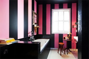 Rosa y negro para un baño decorar-banos Blog Decoracion