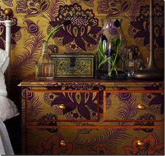 El mismo estampado para pared y muebles ideas-para-decorar Blog Decoracion