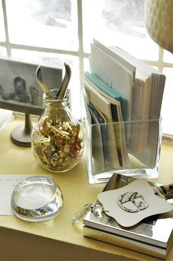 Un recipiente de cristal para guardar las cartas ideas-para-decorar Blog Decoracion
