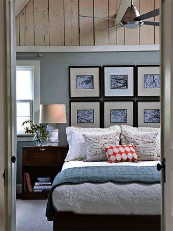 Una cabecera hecha con cuadros  decoracion-dormitorios Blog Decoracion