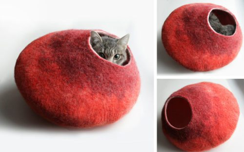 cozy wool cat caves