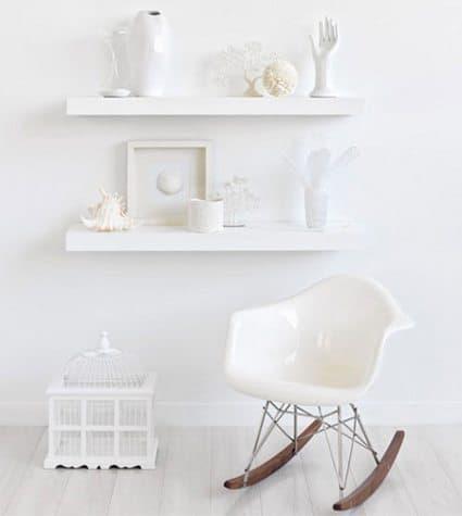 rincón decorado en blanco