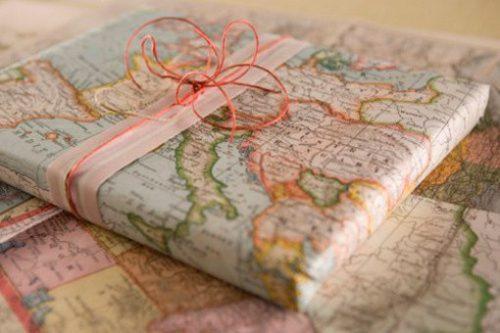 regalos con mapas
